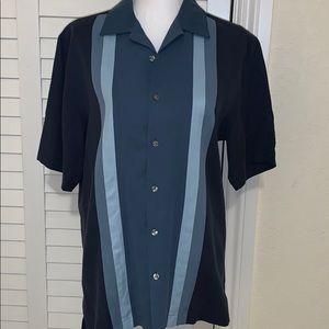 Alfani men's silk short sleeve button down Small
